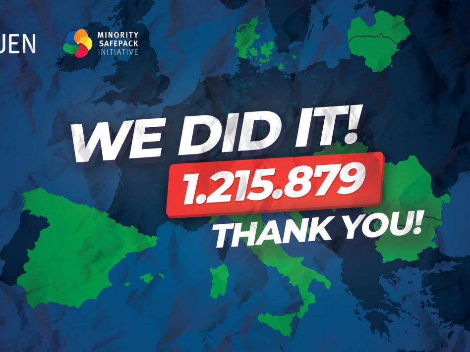Slika: SKUPNO NAM JE USPELO: Zbrali smo 1.215.879 podpisov