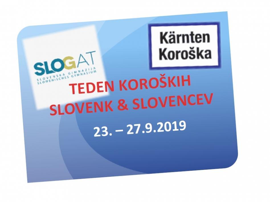 Slika: Teden koroških Slovenk & Slovencev na Slovenski gimnaziji
