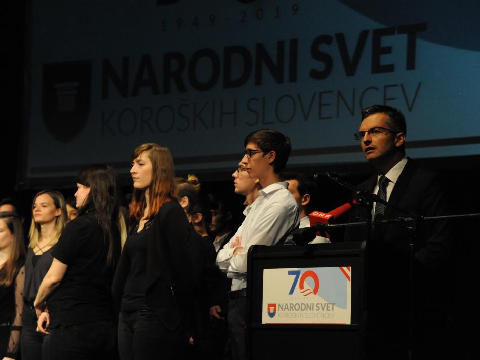 Slika: SLAVNOSTNA PRIREDITEV ob 70-letnici ustanovitve Narodnega sveta koroških Slovencev
