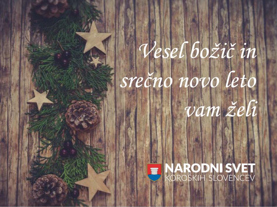 Slika: Narodni svet koroških Slovencev Vam želi blagoslovljen, miren Božič in vso srečo v novem letu 2020