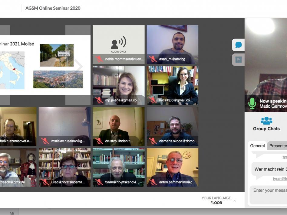 Slika: Online FUEN-Seminar slovanskih manjšin v Evropi