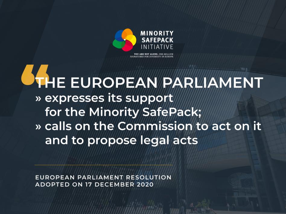 """Slika: Evropska državaljanska pobuda """"Minority SafePack"""" odobrena v Evropskem parlamentu"""