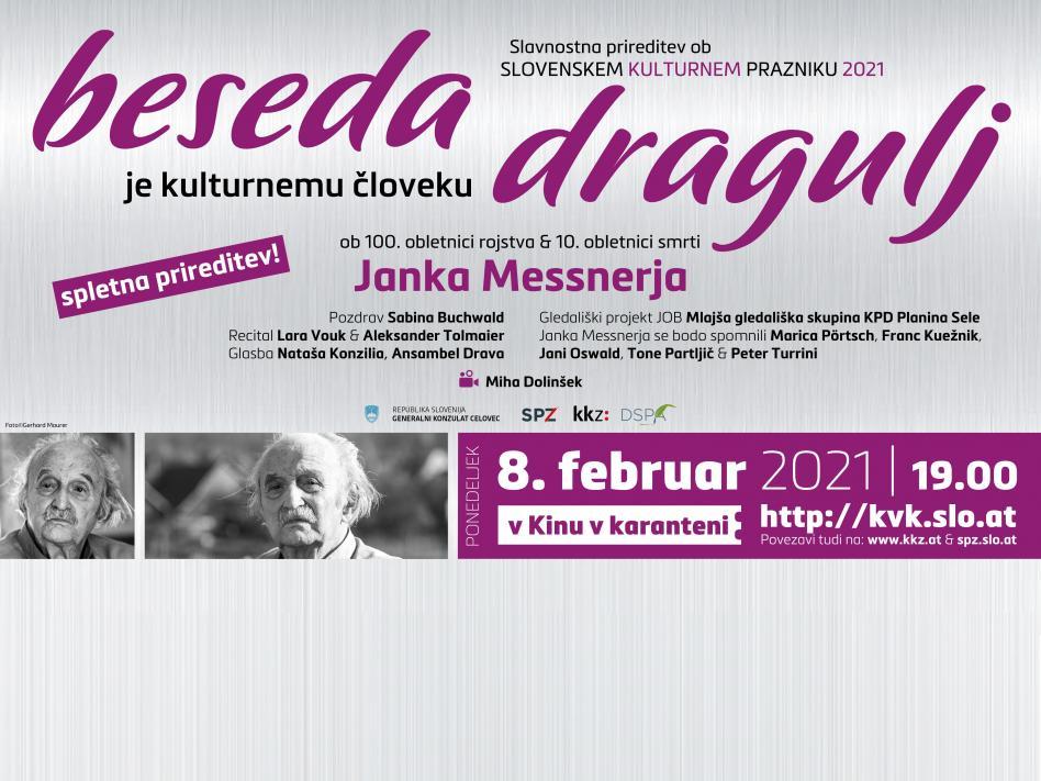 Slika: SLOVENSKI KULTURNI PRAZNIK 2021