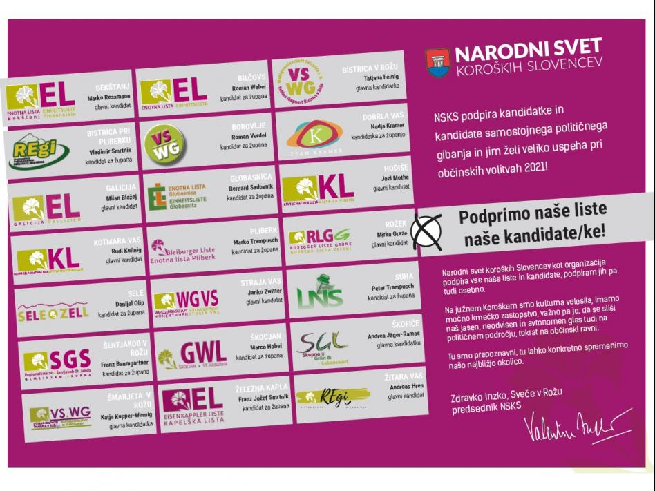 Slika: Podprimo naše liste, naše kandidate/ke!