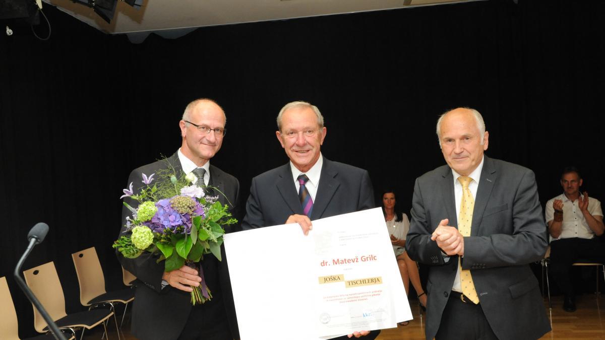 Slika: Dr. Matevž Grilc je prejel XLII. Tischlerjevo nagrado